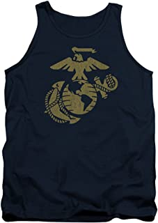 US Marine Corps Gold Emblem Unisex Adult Tank Top for Men and Women