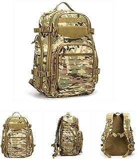 QAQ Sistema MOLLE Militar 45L Mochila Táctica Tela Oxford 1000D Impermeable Resistente a La Rotura Al Moho para Senderismo Camping Caza