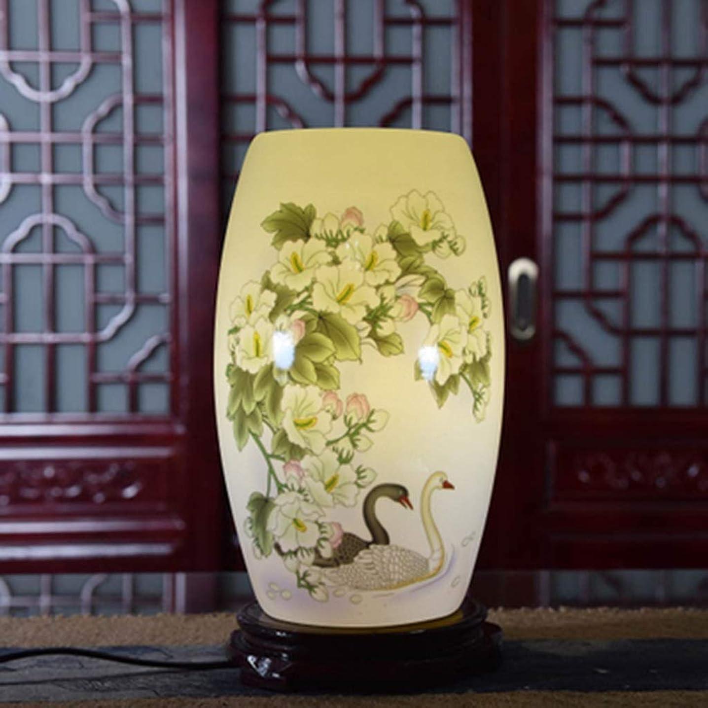 代数昆虫を見る有益レトロセラミックベッドサイドテーブルランプ寝室のリビングルーム研究デスクランプデスクランプ青と白の磁器パステルセラミックテーブルランプのヴィンテージの暖かい光 (Color : A)