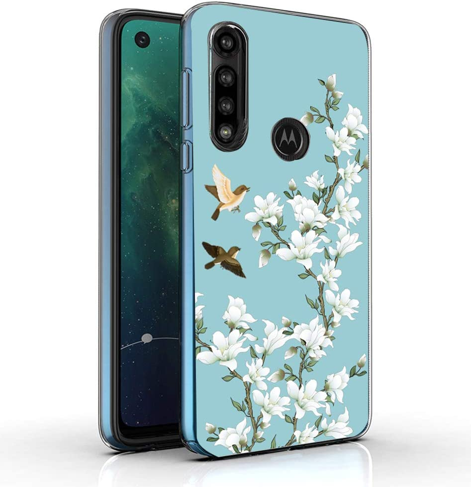 Starhemei for Moto G Power Case, Motorola G Power Case,Slim TPU Soft Shell Ultra Thin Flexibility Bumper Rubber Case Cover for Motorola Moto G Power 2020 (Magnolia)