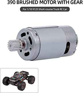 Extaum Brushed Motor XINLEHONG Toys 390 Brushed Motor with Gear for 1/10 9125 Short-Course Truck RC Car