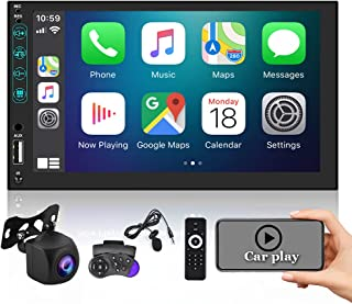 $109 » EKAT Car Stereo Double Din Compatible with Apple Carplay /Android Auto,7 inch Touchscreen Radio with Bluetooth,Car Audio R...
