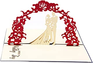 Creative 4D Greeting Card Handmade Paper Carved Hollow Sweet Wedding Invitations Blue