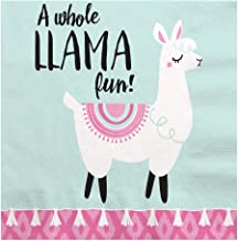 Big Dot of Happiness Whole Llama Fun - Llama Fiesta Baby Shower or Birthday Party Luncheon Napkins - 16 Count