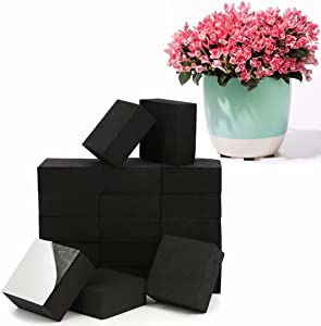 40 Pack Pot Feet for Outdoor Planters& Adhesive Pads-Invisible Plant Risers for Medium and Large Sized Heavy Pots|20 Pack + 20 Pack Self-Adhesive Pads…