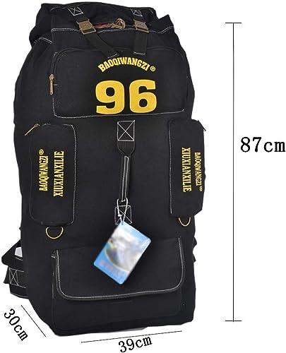 XLOO Sac à Dos Grande capacité 100L - Sac à Dos Tactique - Sac à Dos de randonnée - Convient à l'escalade, au Camping, à la pêche, aux Voyages, au Cyclisme et au Ski