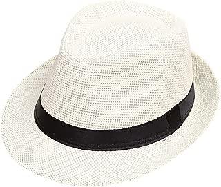 ❤️ Mealeaf ❤️ Children Kids Summer Beach Sun Hat Jazz Panama Trilby Fedora Hat Gangster Cap(Multicolor,)