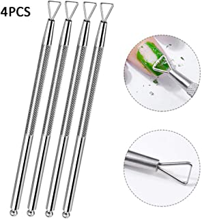 ????Libobo????Stainless Steel Cuticle Remove Gel Nail Polish Nail Art Remover Tool 4Pcs