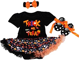 NPK collection 3Pcs/Set Reborn Baby Doll Clothes Outfit for 20-23 Inch Reborns Newborn Babies Matching Clothing Halloween Trick Treat Black Tutu Dress