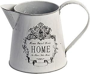 Hyfanstr French Style Country rustique Primitif Pichet Pichet en métal Vase