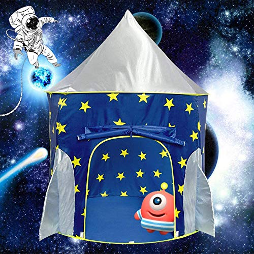 Magictent Rocket Ship Play Tent for Boys,Kids Spaceship Toys,Astronaut Space Ship Tents for Children s House,Foldable Gifts Playhouse for Indoor Outdoor Fun Games