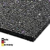 Qualitativ hochwertige Antivibrationsmatte made in Germany - mit hoher Effizienz - schwingungsdämpfende Unterlage für Waschmaschinen und andere elektrische Geräte - 60 x 60 cm - 6