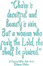 Proverbs 31:30 Watercolor Journal: 6x9 Sermon Notes Book, Ladies Church Notebook, Christian Gift Journals For Women And Girls, Bible Study Guide Workbook