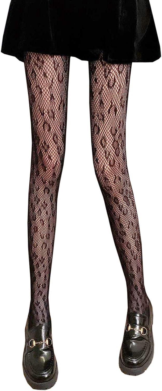 XueXian Women's Fishnet Leopard Pattern Pantyhose Stocking Sheers