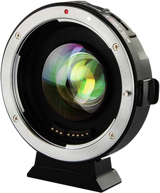 VILTROX EF-M2 II Focal Reducer Speed Booster Adapter Auto-Focus 0.71x para Canon EF Montura de lente a cámara M43 Panasonic GF1 GH4 GH5 Olympus E-M5 E-M10 E-PL1