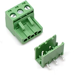 Willwin 20 Set 5.08 mm Pitch Right Angle 3pin PCB Pluggable Terminal Block Connectors