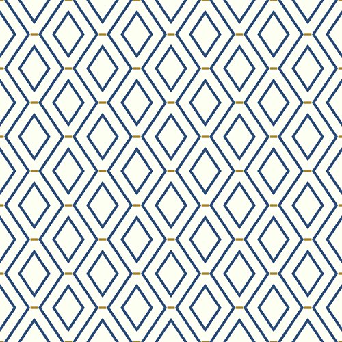 York Wallcoverings WC7581 Waverly Classics II Diamond Duo Removable Wallpaper, Blues