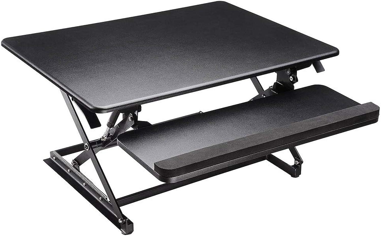 Yescom Computer Desk Adjustable Height Standing Desk Sit-Stand Monitor Riser Desktop Laptop