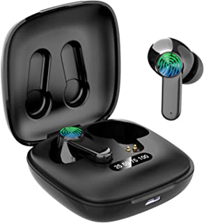 Auriculares Bluetooth, Auriculares inalámbricos Bluetooth 5.0 Sonido Estéreo con Micrófono Auricular Mini TWS In-Ear Auric...
