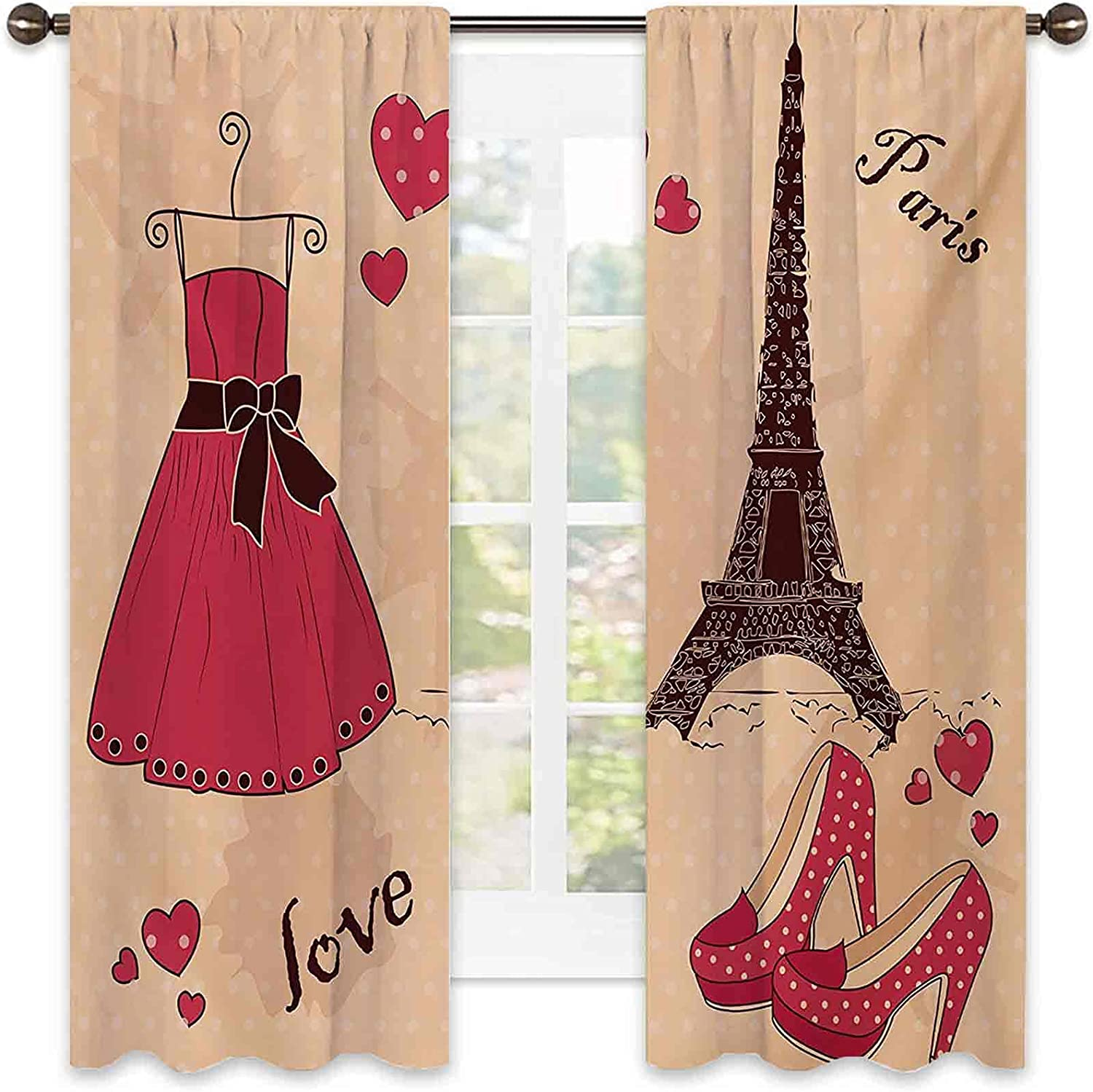 Reservation 90% Blackout Heels and Dresses R Paris Boutique Curtains shipfree French
