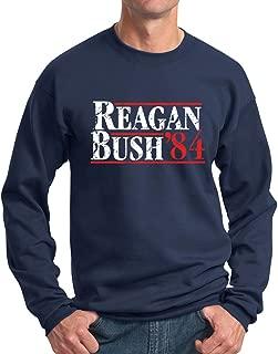 New York Fashion Police Reagan Bush Sweatshirt 84 Republican GOP Crewneck- Vintage/Distressed