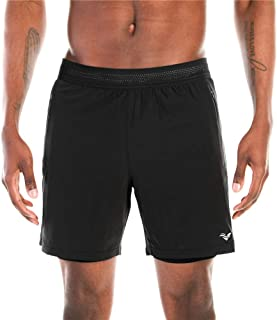 VECCOBERRY Mens 2 in 1 Running Shorts with Compression Liner Shorts and 2 Zip Secure Pockets