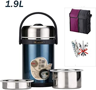 WCHCJ Leak Proof Lunch Container - Stackable Lunch Box Stainless Steel Bento Lunch Box with Bag and Portable Flatware Set ...