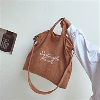 Canvas Shopper Bag Shopping Bags Fashion Female Cotton Cloth Handbag Women Canvas Tote Ladies Casual Shoulder Bag Foldable...