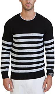 Nautica Men's Long Sleeve Stripe Crewneck Sweater