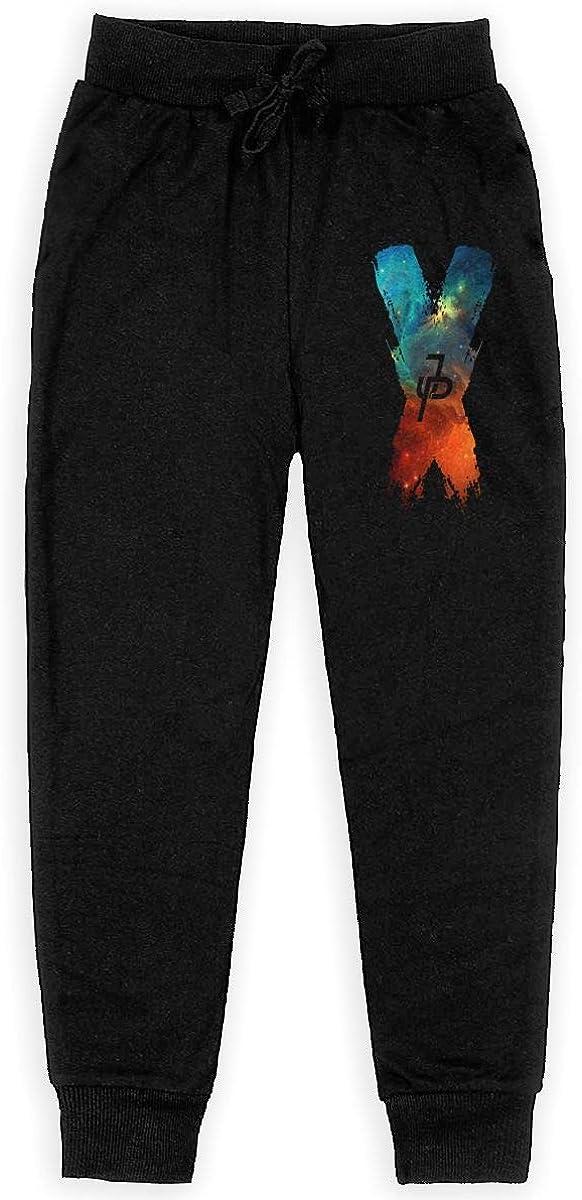 WustegHoodie Boys Teen Sweatpants Stretch Fleece Jogger Back Pocket Black