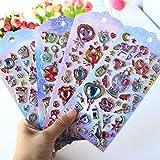 BLOUR 1 Juego/Lote de Pegatinas de papelería, Pegatinas Divertidas con Gemas, Pegatinas Decorativas para móviles,...