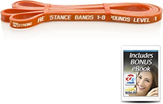 321 STRONG Exercise Resistance Bands - Individual or Complete Set for Assisted Pull Ups, Stretching, and Strength Training