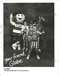Historic Images - 1994 Press Photo Basketball Harlem Globetrotters Mascot and Kids