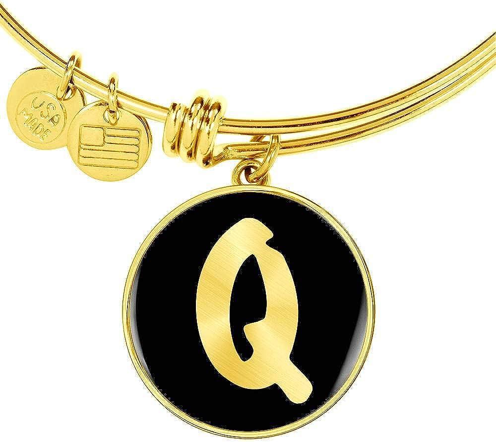 Initial Q v2b - Some reservation trend rank 18k Gold Personalized Bracelet Finished Bangle N