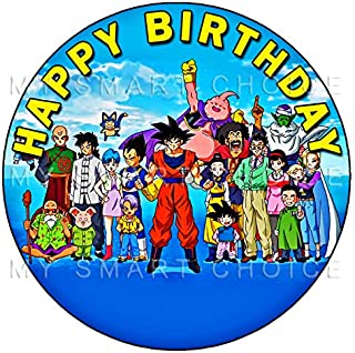 7.5 Inch Edible Cake Toppers – Dragon Ball Z: Goku Themed Birthday Party Collection of Edible Cake Decorations
