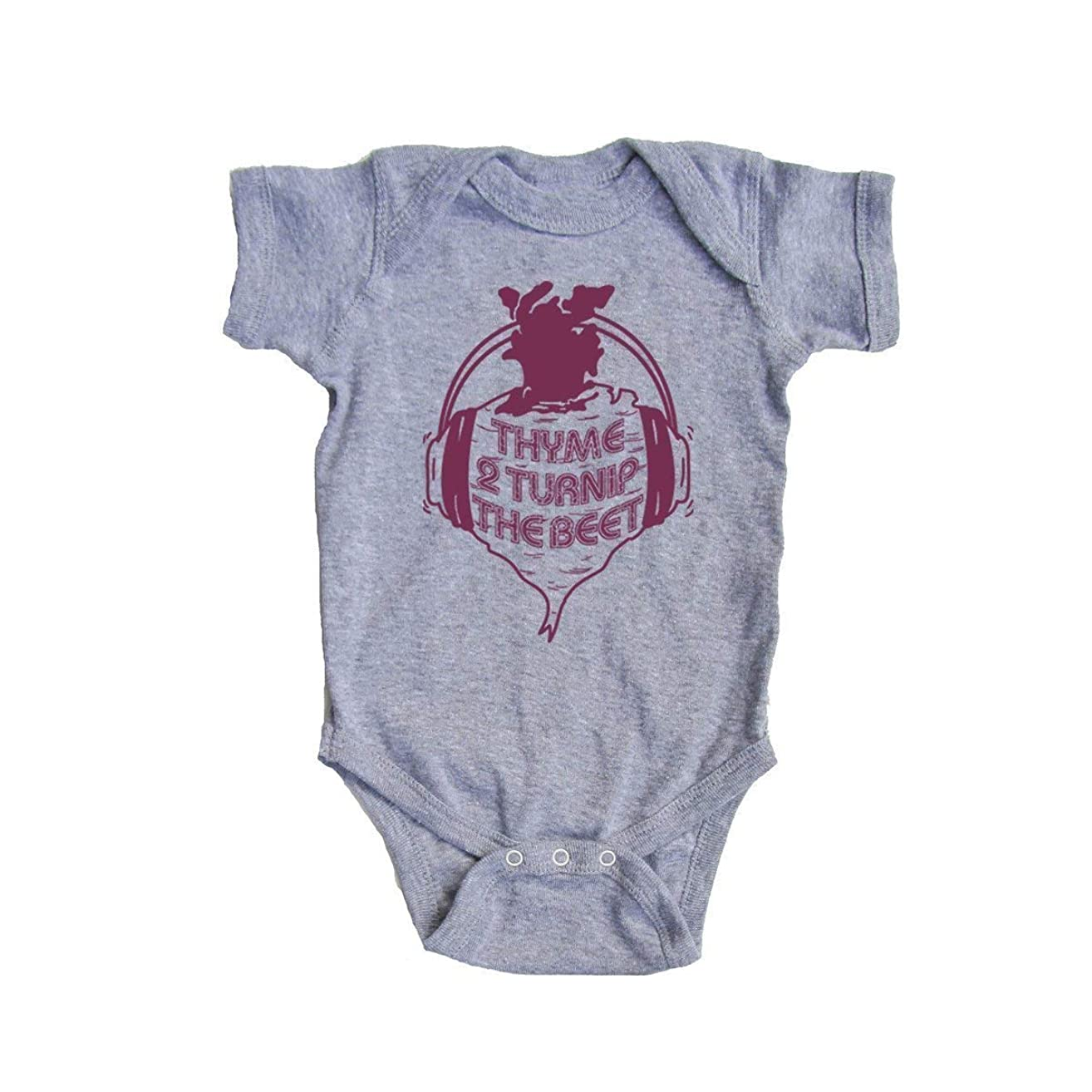 Baby Thyme to Turnip the Beet Onesie - Funny Vegan Bodysuit