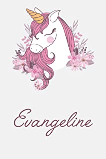 Evangeline And Unicorn: Great Gifts Notebook for Women, Girls, Wives, Mom, Aunt kids Friend | Fun Spy Games for Holiday | ...