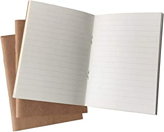(Set of 3) Travelers Notebook Inserts Passport Size, 32 Sheets Each Book, 100gsm Lined Paper