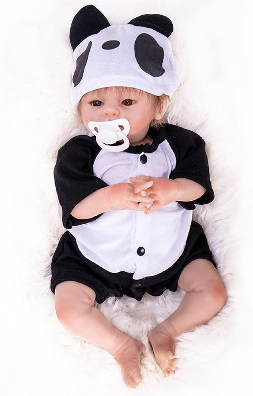 ventas directas de fábrica Hongge muñeca Reborn, Reborn, Reborn, Reborn Baby Doll, Bebe Reborn Dolls Suave Vinilo Silicona Newborn Doll Panda Ropa para Niños Regalos 46cm  suministramos lo mejor