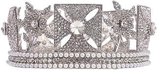 Corona Strass Tiara perla della parte superiore della principessa copricapo Diademi for Wedding promenade del partito nuzi...