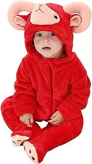Baby Neugeborenes Karton Kigurumi Tier Schlafanzug Strampler warm Nachtwäsche JO