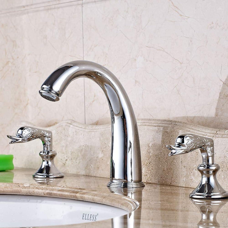 Floungey BadinsGrößetionen Waschtischarmaturen Küchenarmaturen Zwei Griffe Chrom Messing Bad Becken Wasserhahn Badewanne Waschbecken Mischbatterie