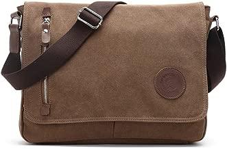 Sechunk Canvas Small Messenger Bag Shoulder bag Cross body bag for men boy student school