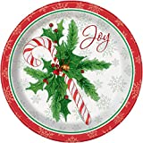Candy Cane Christmas Dinner Plates, 8ct - 21.9 cm