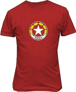 PFC CSKA Sofia Bulgaria Soccer Football t Shirt,Red,XXX-Large