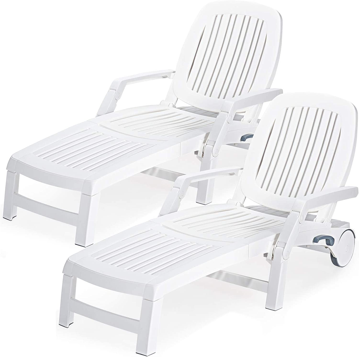 Giantex Chaise Lounge Outdoor Chai Backrests 6 OFFicial store Adjustable Bombing free shipping