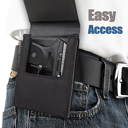 Sneaky Pete Nylon Belt Clip Holster - Medium | Fits Glock 42, Glock 43, Kimber Micro CDP, Ruger LC-9 & LC380, Bersa Thunder 380, Taurus 709 and More