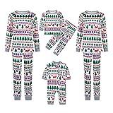 Pijama de Navidad con diseño de árbol de Navidad, cuello redondo, ropa familiar de manga larga, Akind*white, 4 años