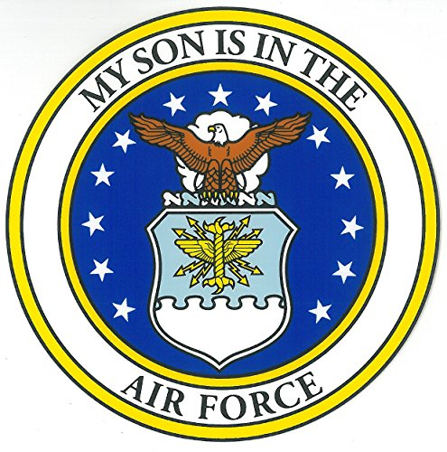 My Son Is In The Air Force With Crest Clear Decal