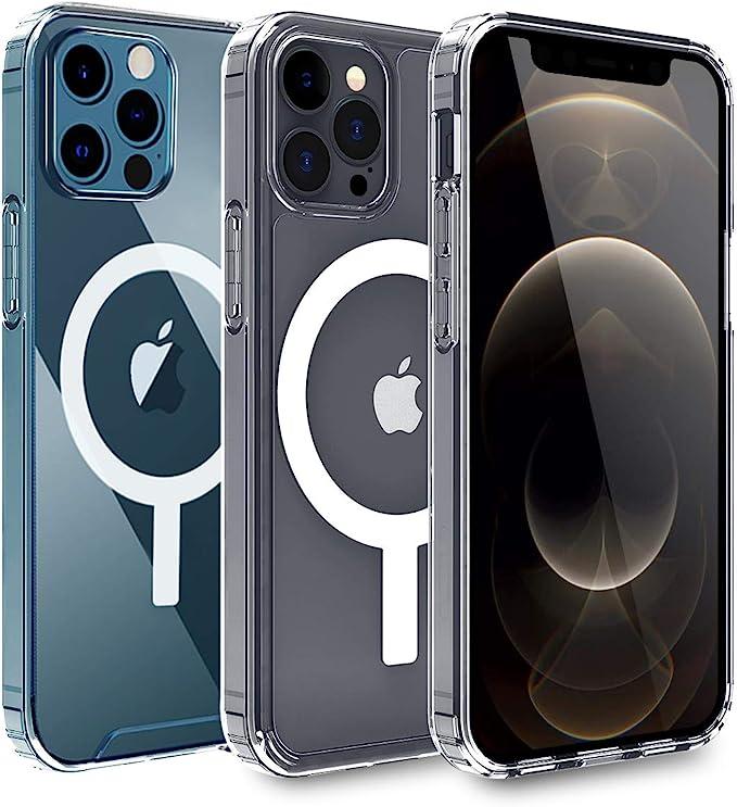 1191 opinioni per AICase Custodia Trasparente per Phone 12/Phone 12 PRO con Cerchio Magnetico